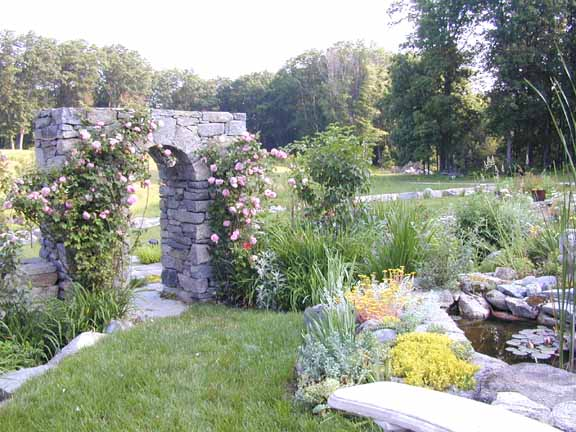 Arch and pond