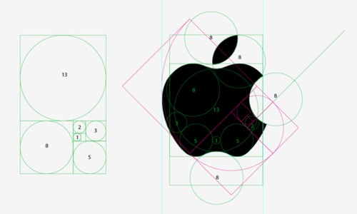 Apple logo golden ratio