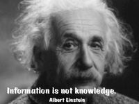 Einstein_Info_is_not_knowledge